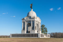 Monument de la Pennsylvanie au champ de bataille de ressortissant de Gettysburg photographie stock