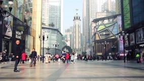Monument de libération des personnes s, Chongqing, Chine banque de vidéos