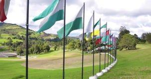 Monument de mémorial de guerre de la Colombie Tunja de conflit dans Boyaca clips vidéos