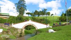 Monument de mémorial de guerre de la Colombie Tunja le pont de Boyaca banque de vidéos