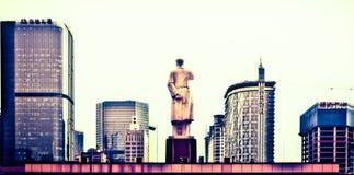 Monument de Mao Zedong à Chengdu Chine photographie stock