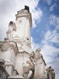 Monument de Marques de Pombal à Lisbonne, Portugal Images libres de droits