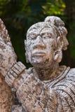 Monument de maya indigène au Mexique Images libres de droits