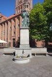 Monument de Nicolaus Copernicus à Torun Photographie stock