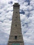 Monument de pèlerin : Ville de province, mA photo libre de droits