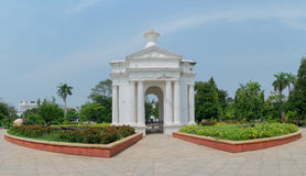 Monument de parc d'Aayi Mandapam dans Pondicherry, Inde Photographie stock libre de droits