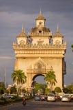 Monument de Patuxai à Vientiane, Laos Photographie stock