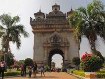 Monument de Patuxai - Vientiane - Laos Photos libres de droits