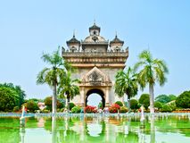 Monument de Patuxay - Vientiane, les LAOTIENS. Photographie stock