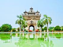 Monument de Patuxay - Vientiane, les LAOTIENS. Photo stock