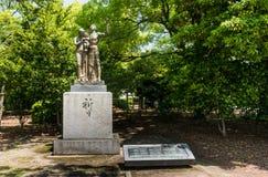 Monument de prière au parc commémoratif de paix d'Hiroshima images stock