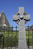 Monument de pyramide de croix celtique et d'étoile - Ecosse Photos libres de droits