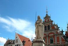 Monument de Roland à Riga, Lettonie Photos stock