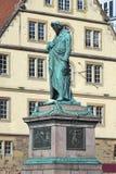 Monument de Schiller sur le Schillerplatz à Stuttgart, Allemagne Photos libres de droits
