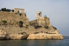Monument de siège, La Valette, Malte Images libres de droits