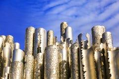 Monument de Sibelius à Helsinki, Finlande Modèle creux de tuyaux d'acier image libre de droits