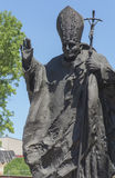 Monument de St John Paul II dans Piekary Slaskie Images stock