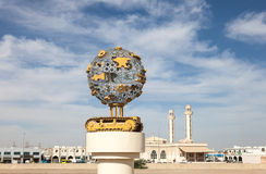 Monument in de stad van Al Ain Stock Foto