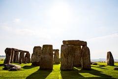 Monument de Stonehenge aux avions de Salisbury image libre de droits