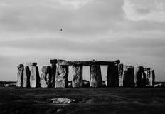 Monument de Stonehenge aux avions de Salisbury photo libre de droits
