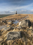 Monument de Stoodley Pike, manière de penninite Image libre de droits