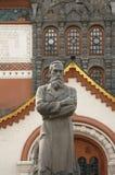 Monument de Tretyakov près de galerie de Tretyakov d'état Photographie stock libre de droits