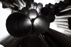 Monument de tuyaux d'organe de compositeur de Jean Sibelius en hiver Helsinki, Finlande Photographie stock libre de droits