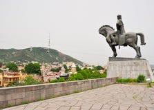 Monument de Vakhtang Gorgasali à Tbilisi, la Géorgie images stock
