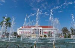 Monument de victoire de Patuxai dans Vientian images stock