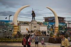 MONUMENT DE VILLE DE LA THAÏLANDE ISAN SURIN Image stock