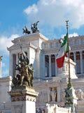 Monument de Vittorio Emanuele à Rome image libre de droits