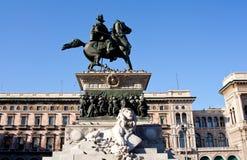 Monument de Vittorio Emanuele II, Milan Photos libres de droits
