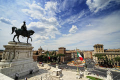 Monument de Vittorio Emanuelle II Photos stock