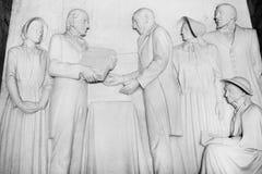 Monument de Voortrekker Soulagement de Bas dans le Hall des héros Images stock