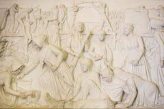 Monument de Voortrekker Soulagement de Bas dans le Hall des héros Images libres de droits
