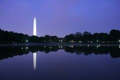 Monument de Washington au crépuscule Photographie stock