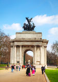 Monument de Wellington Arch à Londres, R-U Image stock