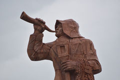 The monument dedicated to the fisherman, San Benedetto del Tronto, Italy. San Benedetto del Tronto, Italy, monument represents the fishermen's outfit during Royalty Free Stock Photo