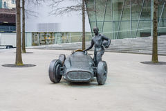 Monument dedicated to Juan Manuel Fangio royalty free stock images