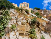 Monument dedicated to the liberation of the island of Symi Royalty Free Stock Photography