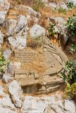 Monument dedicated to the liberation of the island of Symi Royalty Free Stock Photos