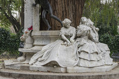 Monument dedicated to the poet Gustavo Adolfo Bcquer in Seville. Monument dedicated to the illustrious poet Gustavo Adolfo Becquer Seville in Park Maria Luisa in Royalty Free Stock Photo