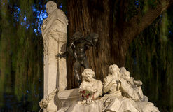 Monument dedicated to the poet Gustavo Adolfo Bcquer in Seville. Monument dedicated to the illustrious poet Gustavo Adolfo Becquer Seville in Park Maria Luisa in Royalty Free Stock Image