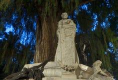 Monument dedicated to the poet Gustavo Adolfo Bcquer in Seville. Monument dedicated to the illustrious poet Gustavo Adolfo Becquer Seville in Park Maria Luisa in Stock Image