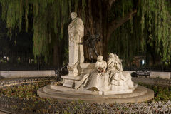 Monument dedicated to the poet Gustavo Adolfo Bcquer in Seville. Monument dedicated to the illustrious poet Gustavo Adolfo Becquer Seville in Park Maria Luisa in Stock Images