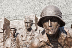 Monument dedicated to Warsaw uprising. Warsaw, Poland - October 4, 2014: Monument dedicated to Warsaw uprising of 1944. Created by Wincenty Kucma and Jacek Budyn Royalty Free Stock Photos