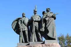 Monument the defenders of the Russian Land. In Moscow on a sunny day Royalty Free Stock Photography