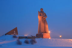 Monument Defenders of the Soviet Arctic during the Great Patriot Royalty Free Stock Photo