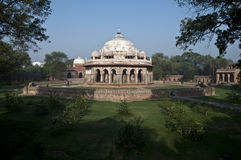 MONUMENT IN DELHI - ISA KHAN GRAF, INDIA Stock Afbeelding