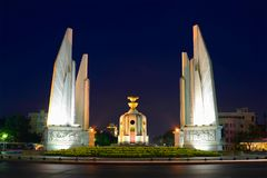 Monument of Democracy close-up late evening. Bangkok, Thailand. Monument of Democracy close-up late evening. Bangkok. Thailand royalty free stock image